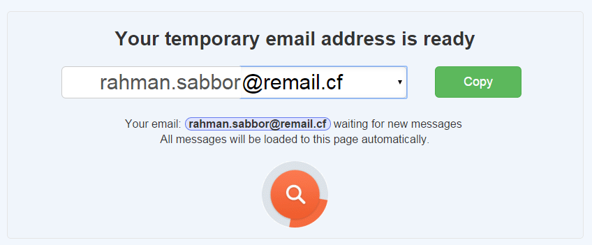 fake email account