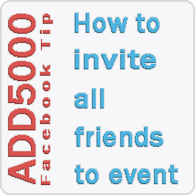 How To Invite All Facebook Friends To Event
