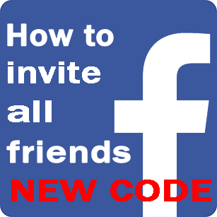 how to invite all friends new code